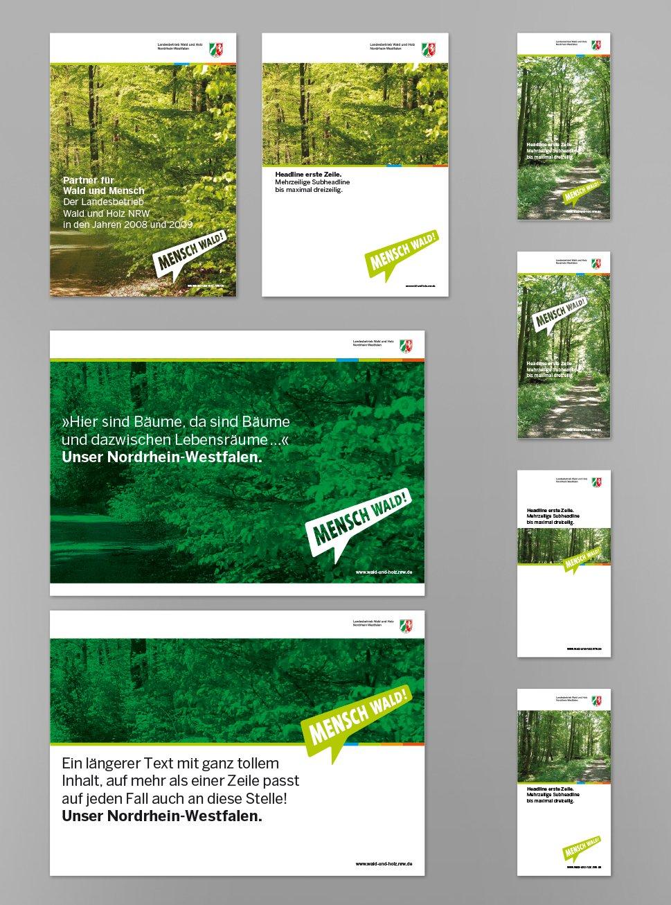 2 ForstNRW Mensch Wald Printkonzeption Flyer Cover 1