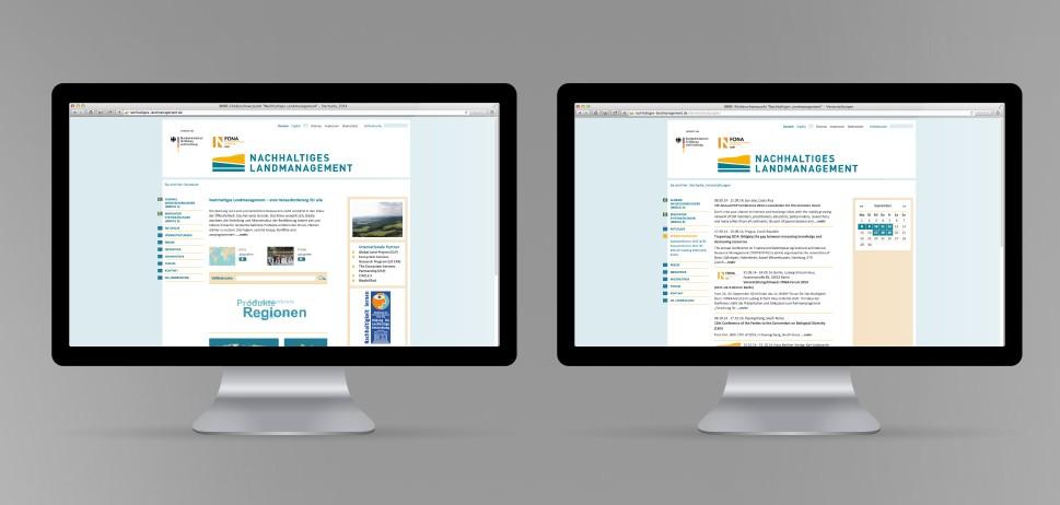 Internetseite Nachhaltiges Landmanagement