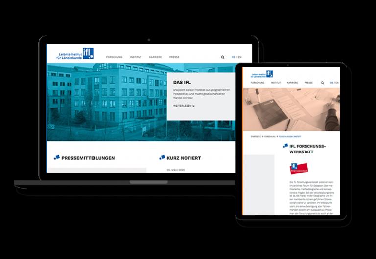 Website des Leibniz-Instituts für Länderkunde