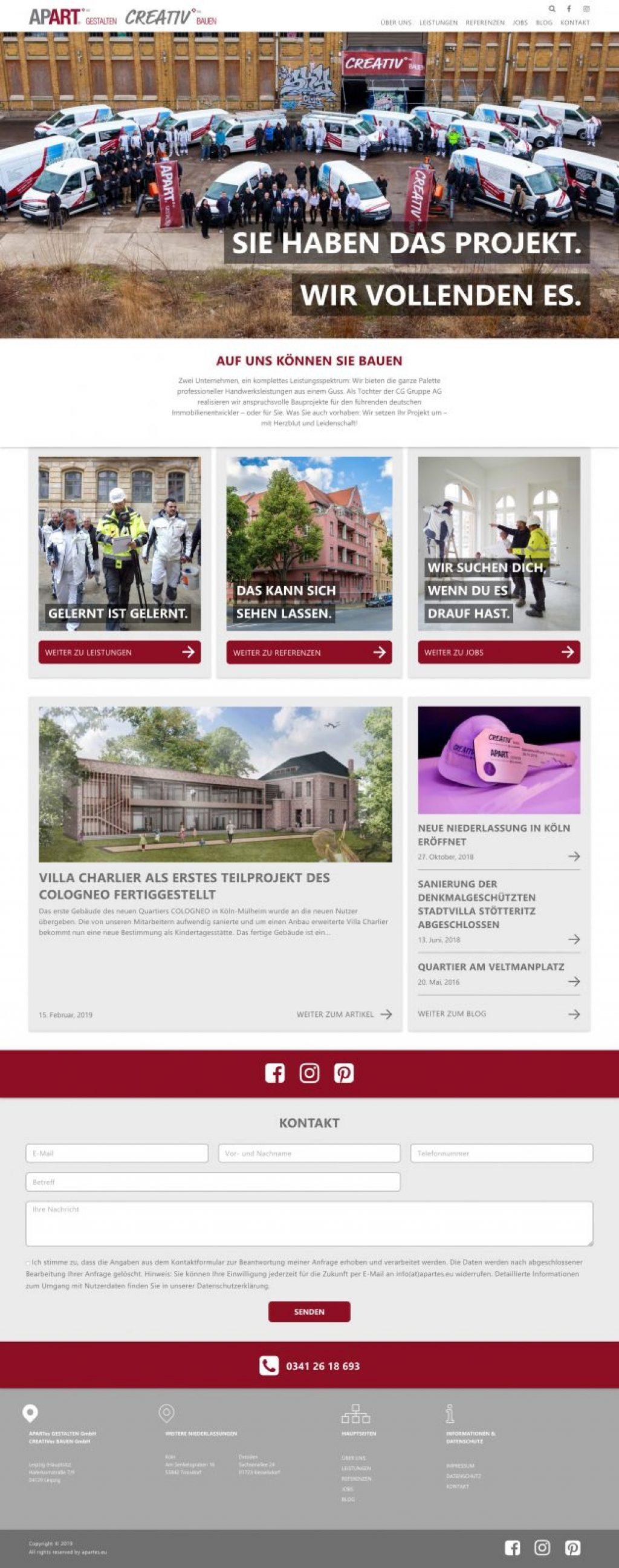 Screenshot 2019 03 11 Startseite apartes eu Professionelle Handwerksleistungen